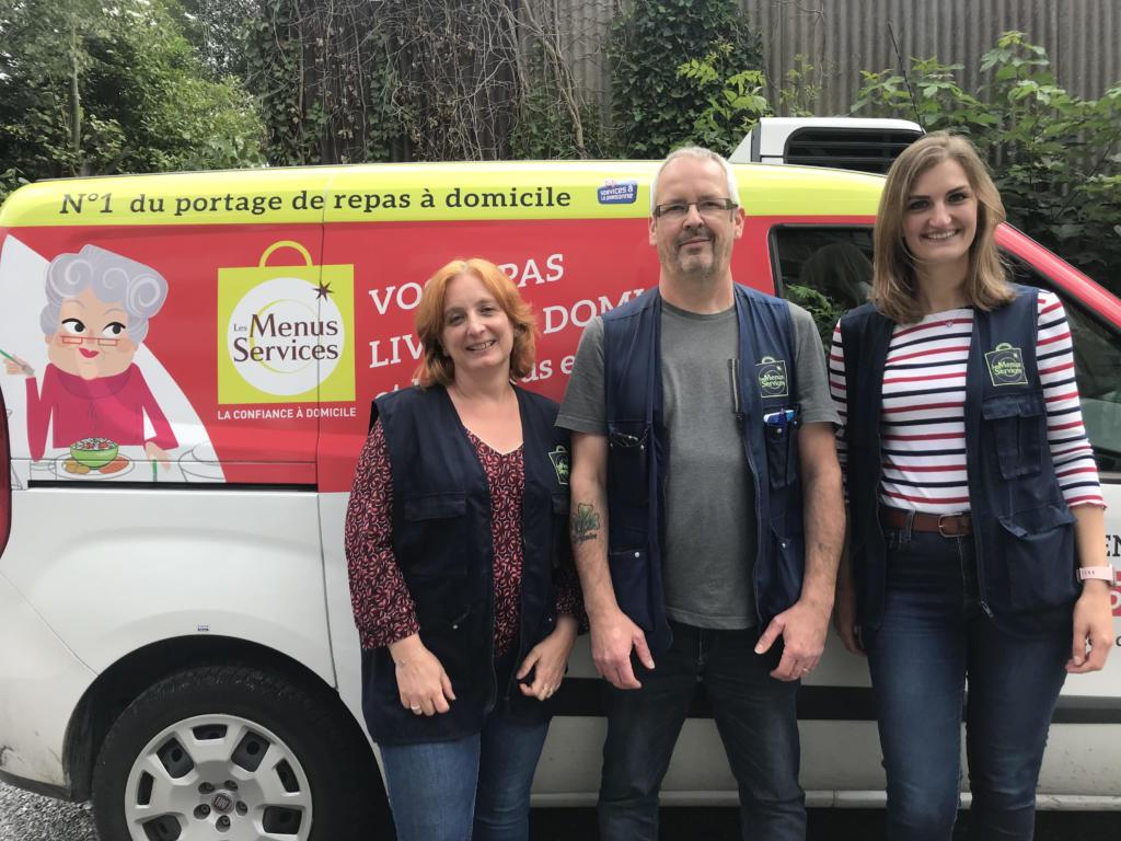 Equipe portage de repas à Valencienne
