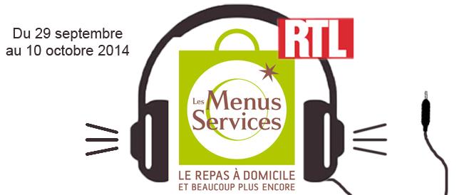 les Menus Services sur RTL