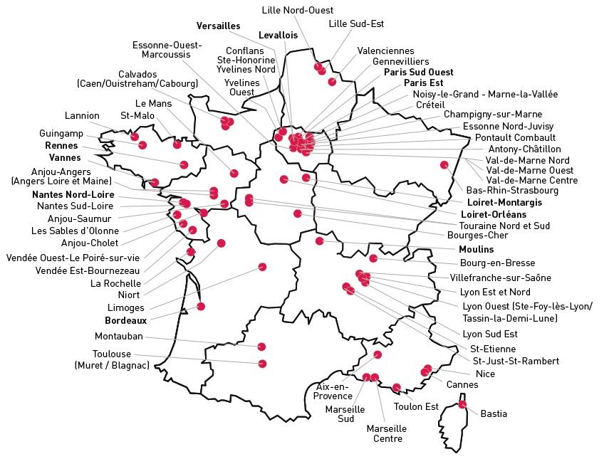 carte des agences les menus services